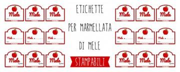 Etichette marmellata di Mele da Stampare