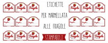 Etichette marmellata di Fragole da stampare