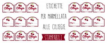 Etichette marmellata di Ciliegie da stampare