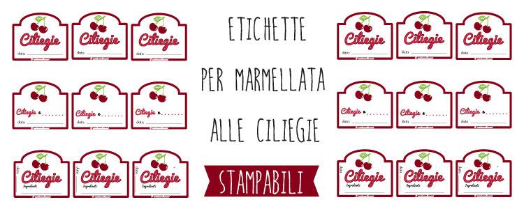 Populaire Etichette marmellata di Ciliegie da stampare CS43