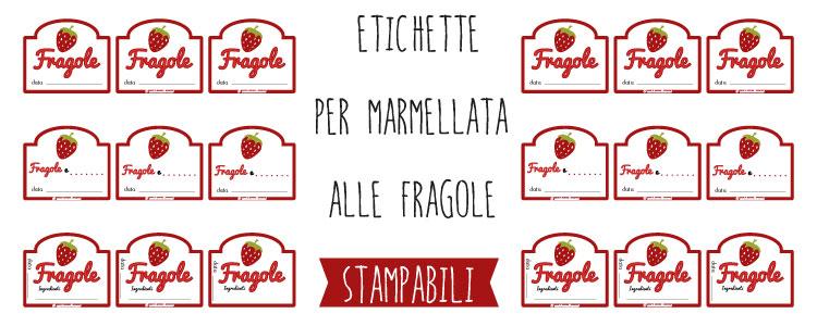 Top Etichette marmellata di Fragole da stampare VT48