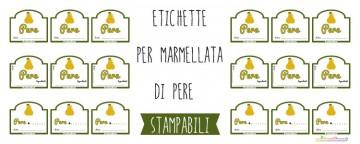 Etichette marmellata di Pere da Stampare
