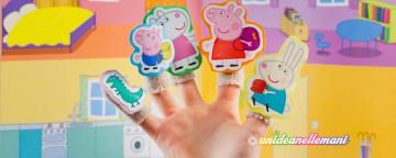 Come fare burattini da dita di Peppa Pig senza cucire