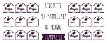 Etichette marmellata di Prugne da stampare