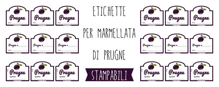 Populaire Etichette marmellata di Prugne da stampare CS43