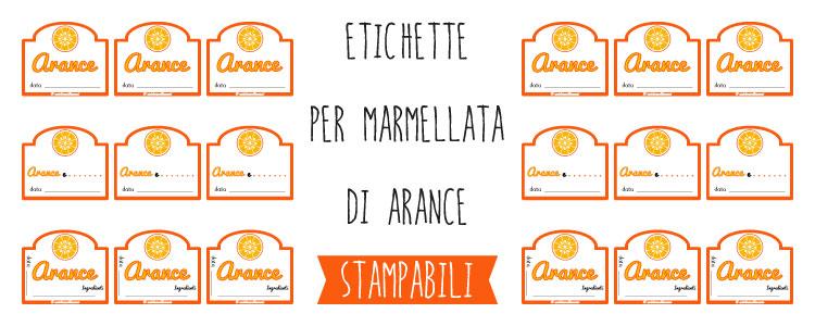 Préférence Etichette marmellata di Arance da Stampare YR42