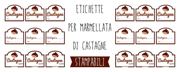 etichette marmellata di castagne