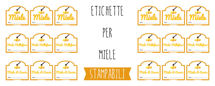 etichette di miele da stampare