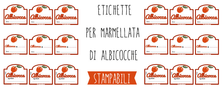 Populaire Etichette marmellata di Albicocche da stampare CS43