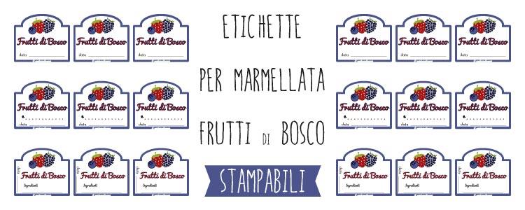 Top Etichette marmellata ai Frutti di Bosco da stampare IT22