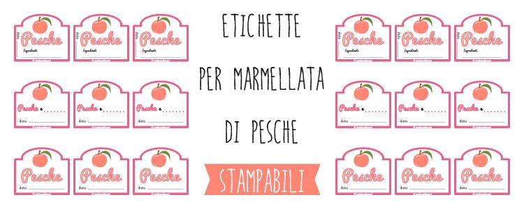 Top Etichette marmellata di Pesche da stampare VT48