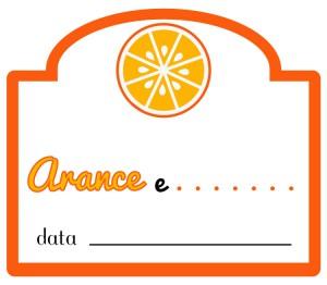 Etichetta marmellata arance con altra frutta