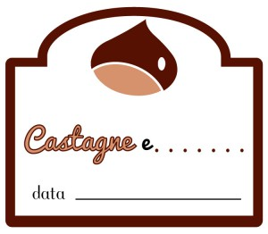etichetta marmellata di castagne e altro