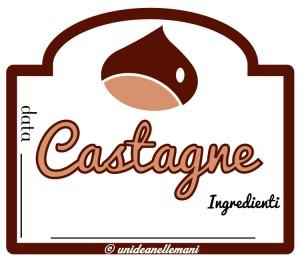 etichetta marmellata di castagne e ingredienti