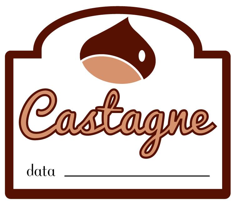etichetta marmellata di castagne