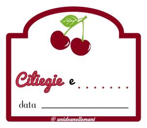 etichetta marmellata di ciliegie e altra frutta da stampare