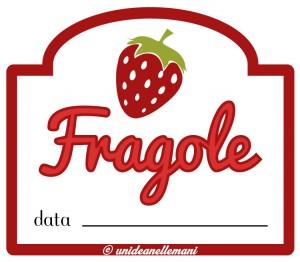 ETICHETTA MARMELLATA FRAGOLE