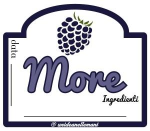etichetta marmellata di more econ ingredienti