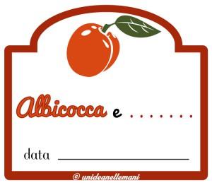 etichetta marmellata di albicocchee altra frutta