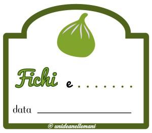 etichetta marmellata di fichi con atra frutta