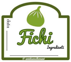 etichetta marmellata di fichi con ingredienti