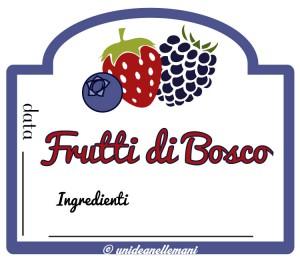 etichetta marmellata frutti di bosco da stampare