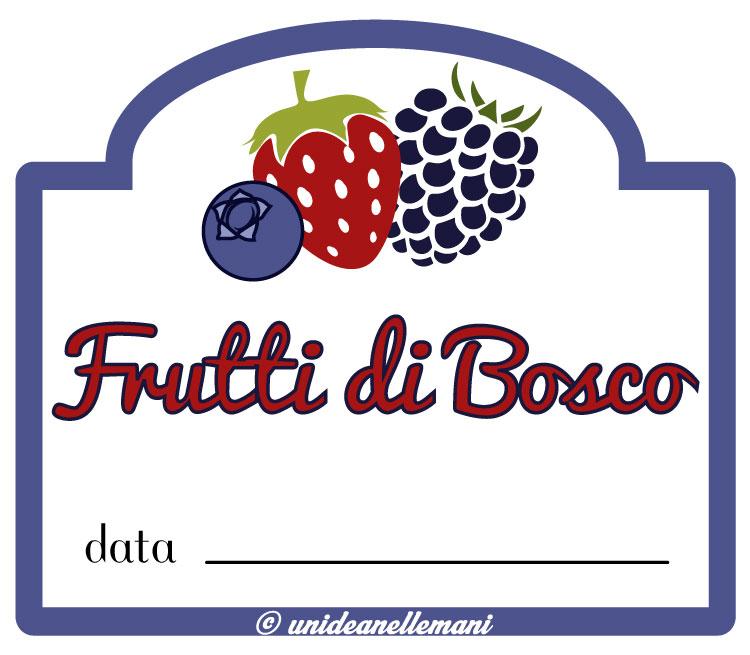 etichetta marmellata frutti di bosco con data da stampare