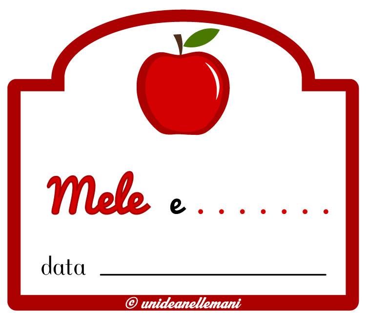 etichetta marmellata mele a altro