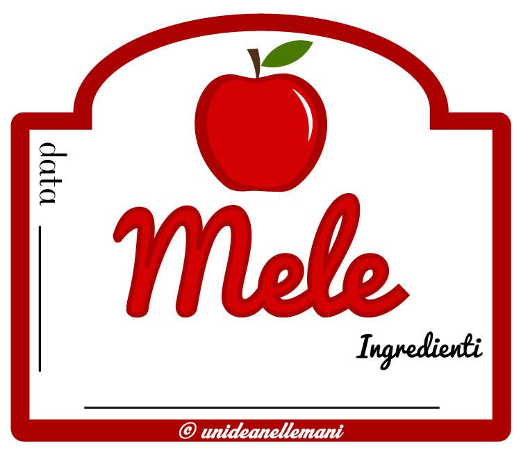 etichetta marmellata mele con ingredienti