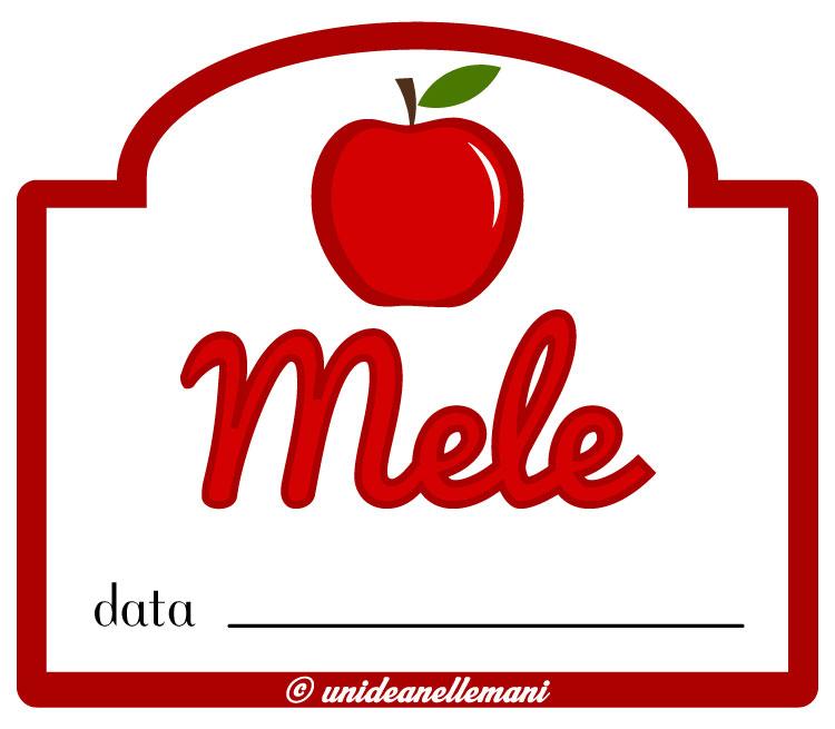 etichetta marmellata mele
