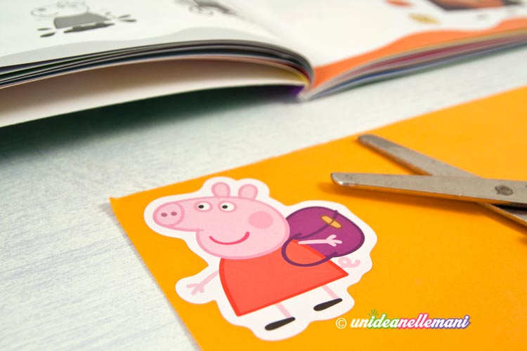 stickers peppa pig incollato