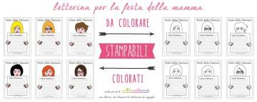 12 Letterine Festa della Mamma da stampare e da colorare