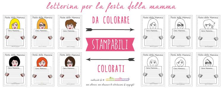 Letterine per la festa della mamma, òetterine festa della mamma da stampare, letterine festa della mamma da colorare