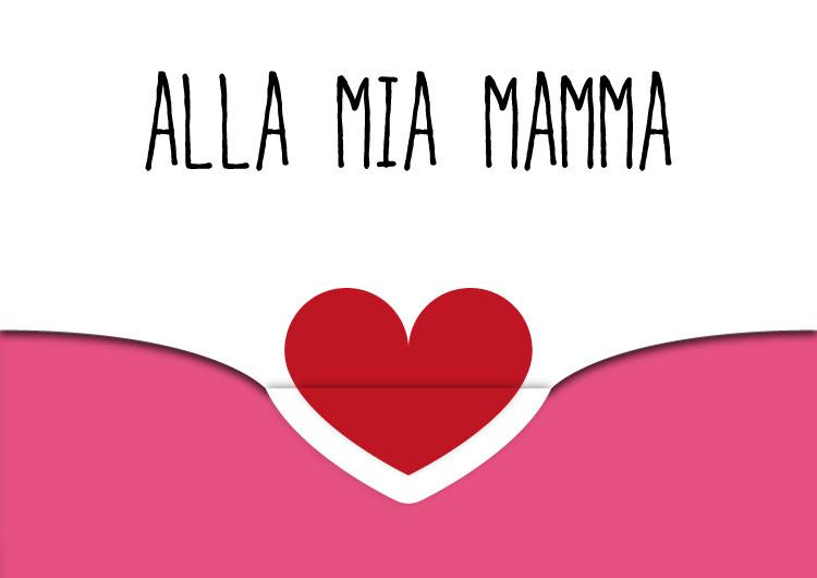 spesso 5 Biglietti di auguri per la Mamma con cuore da stampare JB86
