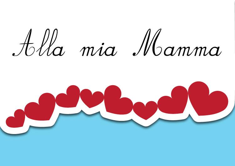 Biglietto di auguri per la festa della mamma azzurro