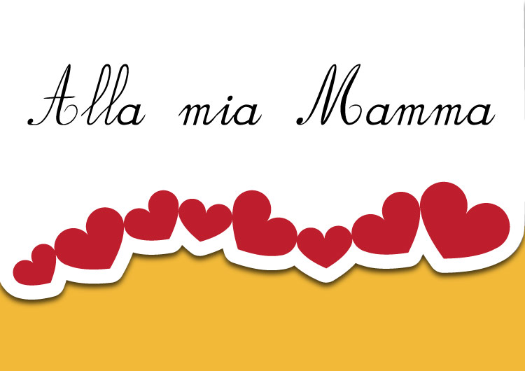 Biglietto di auguri per la festa della mamma giallo