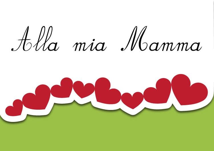 Biglietto di auguri per la festa della mamma verde