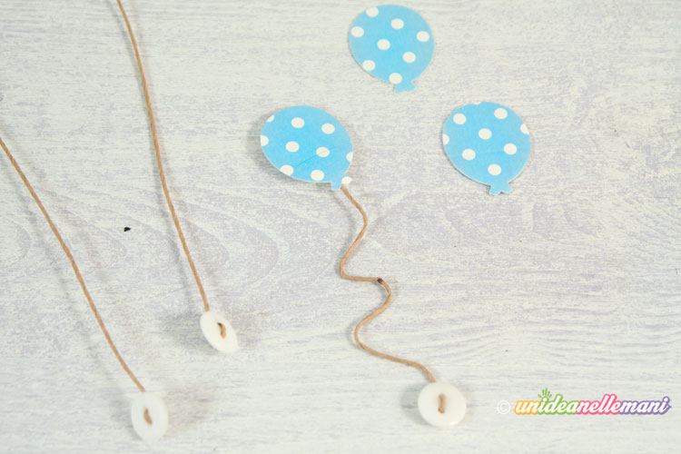 bottoncini e palloncini di carta