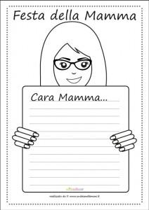 12 Letterine Per La Festa Della Mamma Da Stampare E Da Colorare