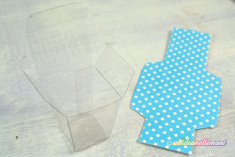 scatoline portaconfetti trasparenti