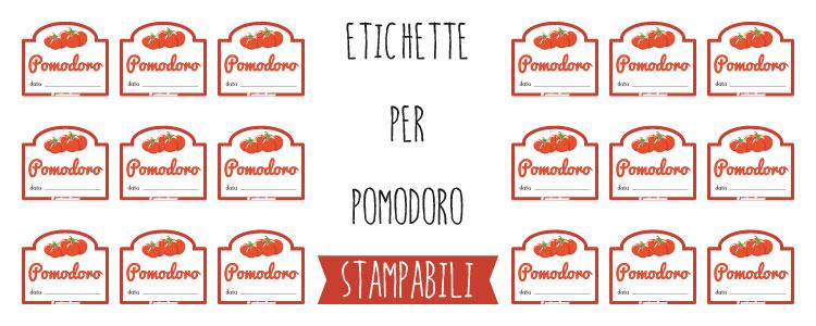 Exceptionnel Etichette per barattoli di Pomodoro da stampare ZT49