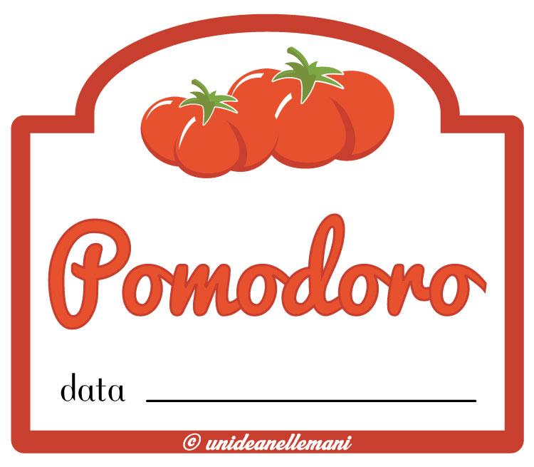 etichetta passata di pomodoro
