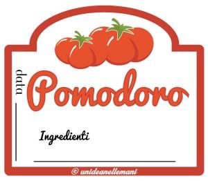 etichetta passata di pomodoro con ingredienti