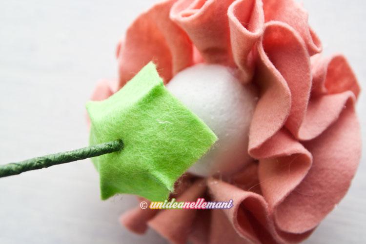 fiori di feltro, fiori di feltro tutorial, fiori di feltro e pannolenci, fiori di feltro fai da te,