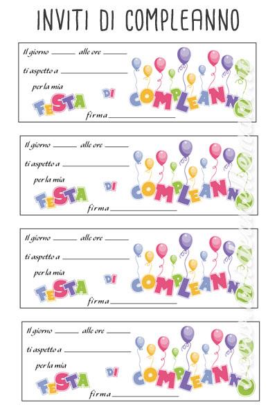 Nice biglietti inviti compleanno da stampare gratis qg36 - Stampabili per bambini gratis ...
