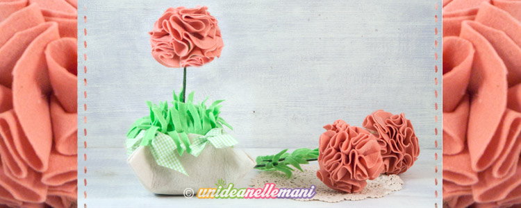 fiori di feltro, fiori di feltro tutorial, fiori di feltro e pannolenci, fiori di feltro fai da te