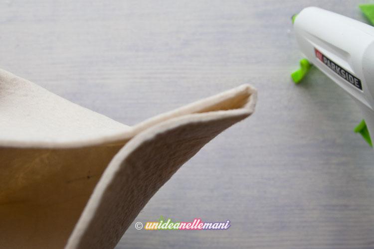 vaso di feltro, lavoretti con il feltro,