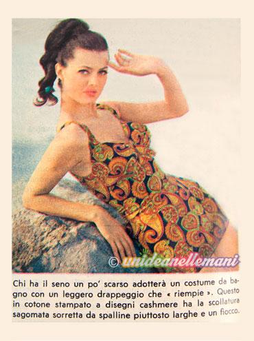 costumi da bagno anni 60, costumi da bagno vintage, moda mare vintage, moda mare anni 60,