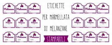 Etichette per Marmellata di Melanzane da Stampare