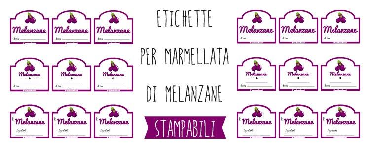 Preferenza Etichette per Marmellata di Melanzane da Stampare RG32